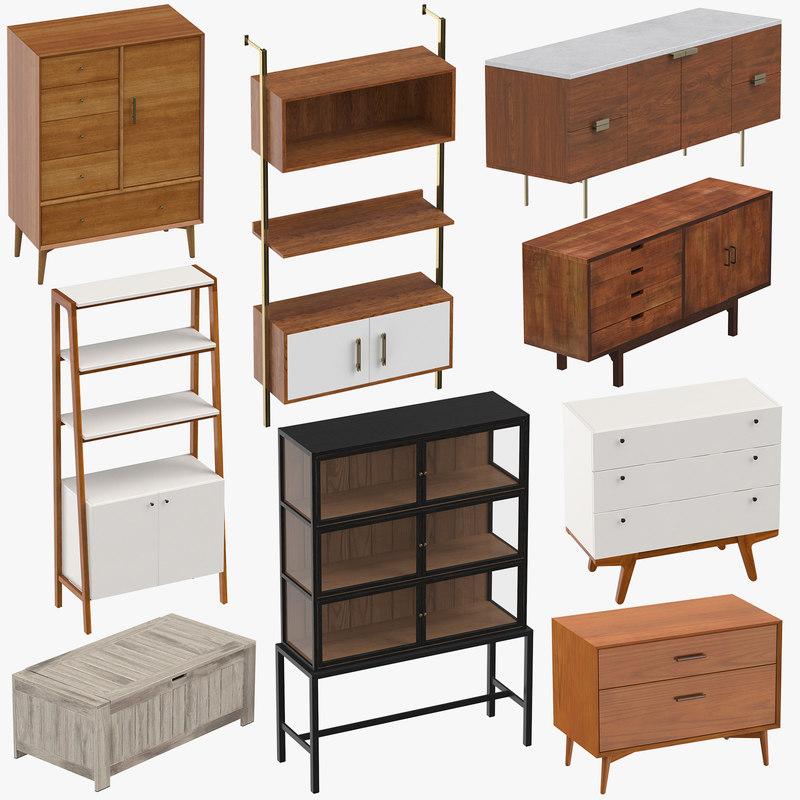 Mid Century Modern Furniture 3d Turbosquid 1306122