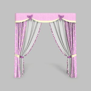 3D curtains 9 modeled