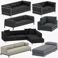 modern sofas 3D