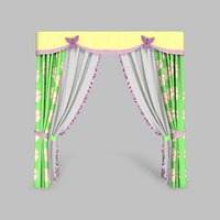 3D curtains 10 modeled