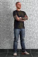 3D tatooed man
