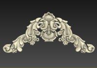 3D cartouche element model