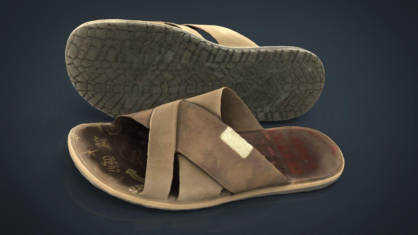 flips flops 3D model