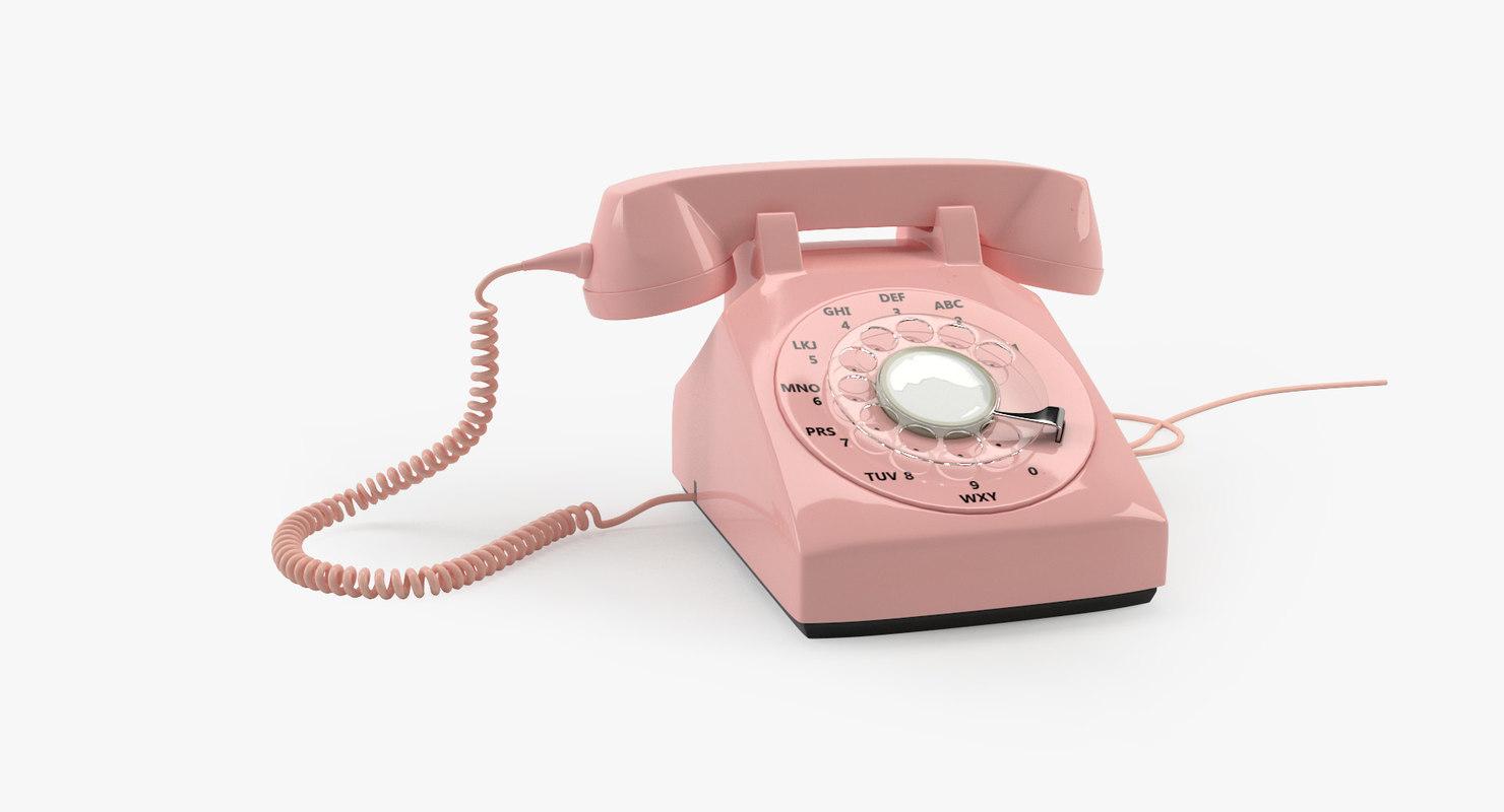 vintage phone 3D model