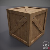 Low-Poly Medieval Wooden Crate