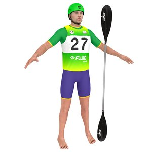 athlete paddle 3D model