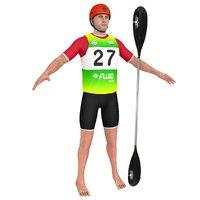 athlete 2 3D model