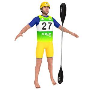 3D model athlete 4