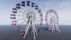 pbr ferris wheel 3D