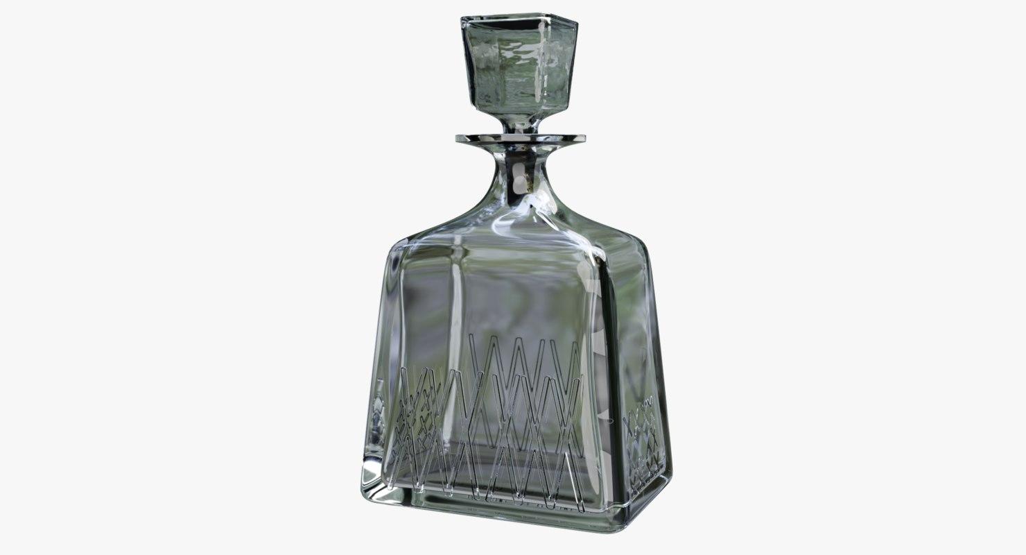 3D carafe alcohol glass