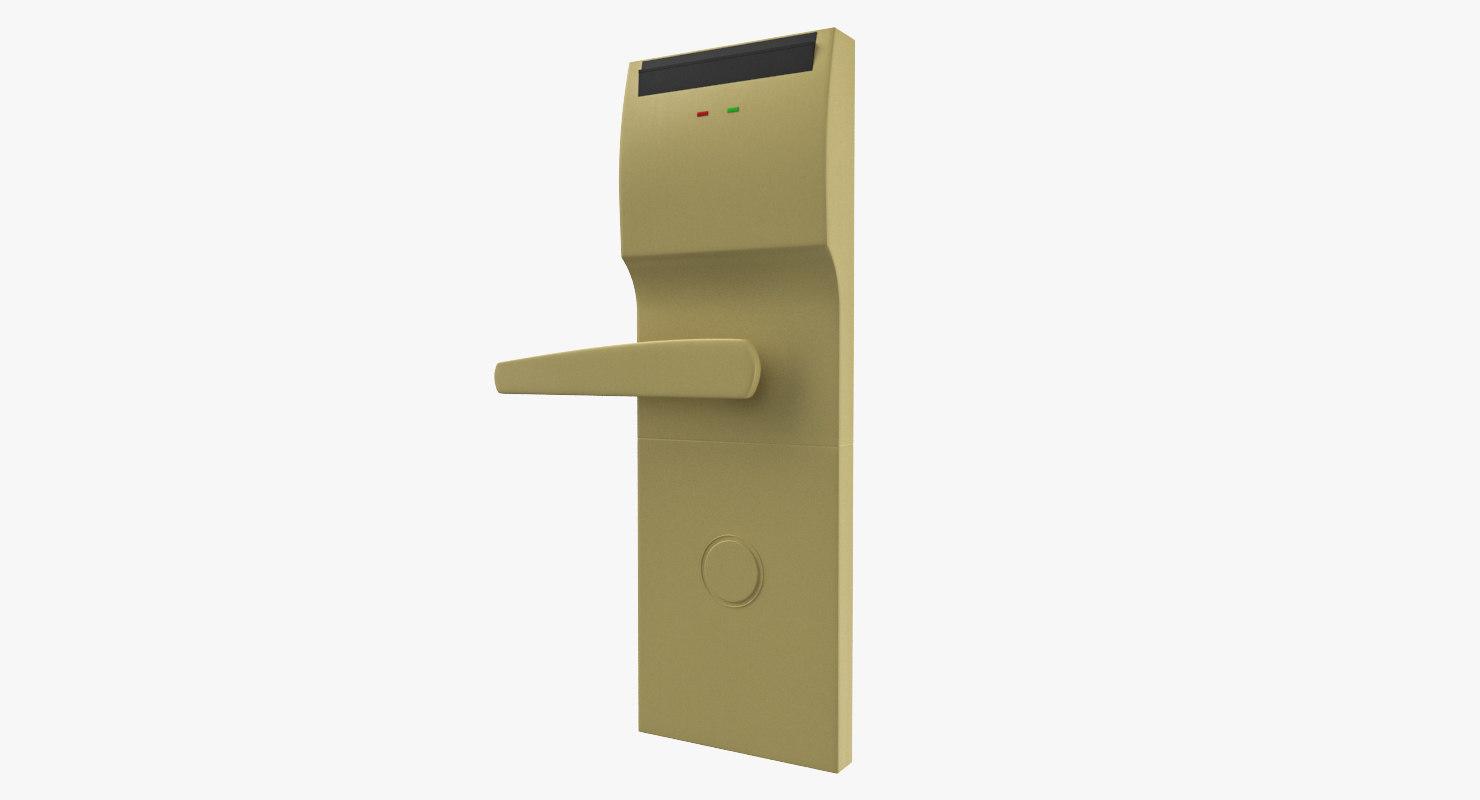 3D model hotel door handle