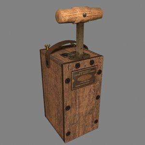 detonator 3D model