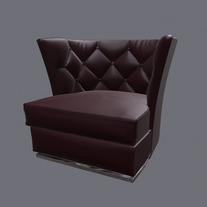 armchair folio 3D model