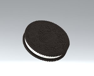 3D oreo biscuit model