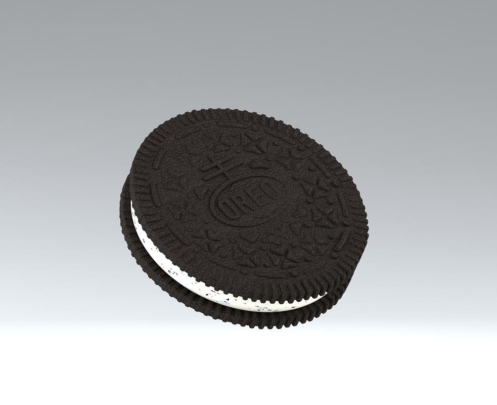 3D oreo biscuit model