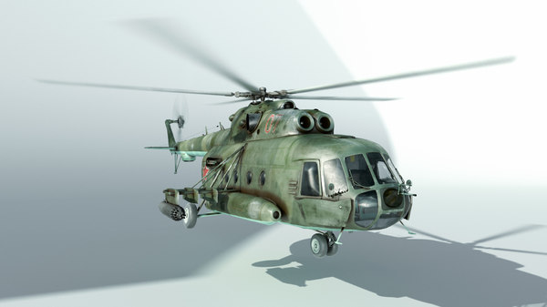 mi 8 helicopter 3D model