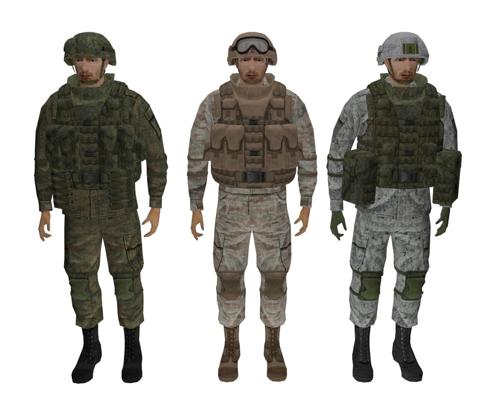 modern soldier equipment ratnik 3D model