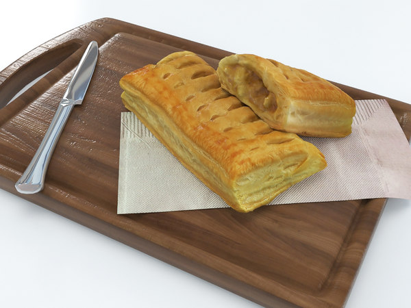 3D pie puff model