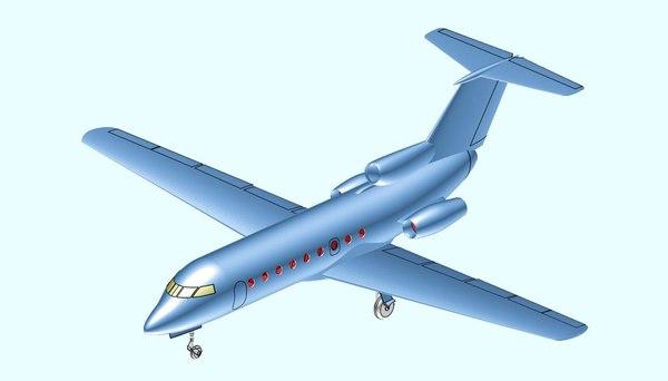 yakolev yak-40 transport aircraft model
