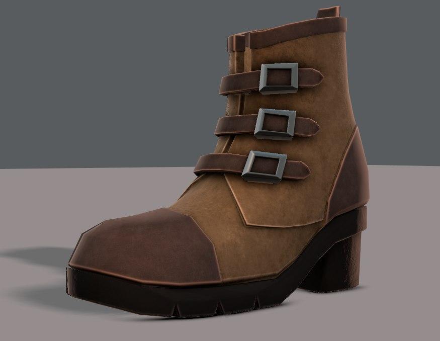 shoes cartoonv03 character cartoon 3D model