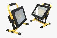 3D model led work light