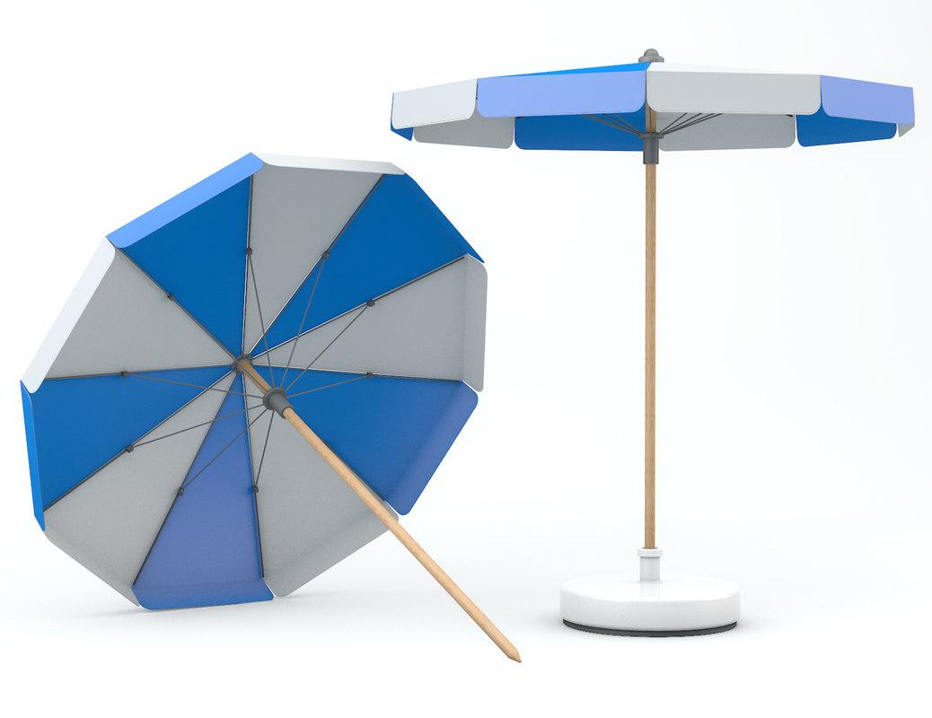 3D parasol beach model