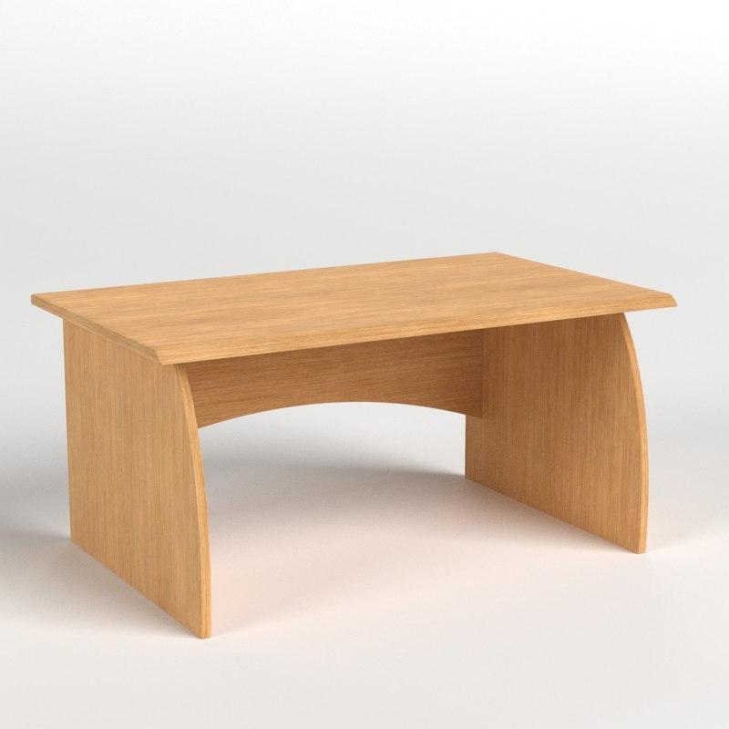 desk 3 3D model