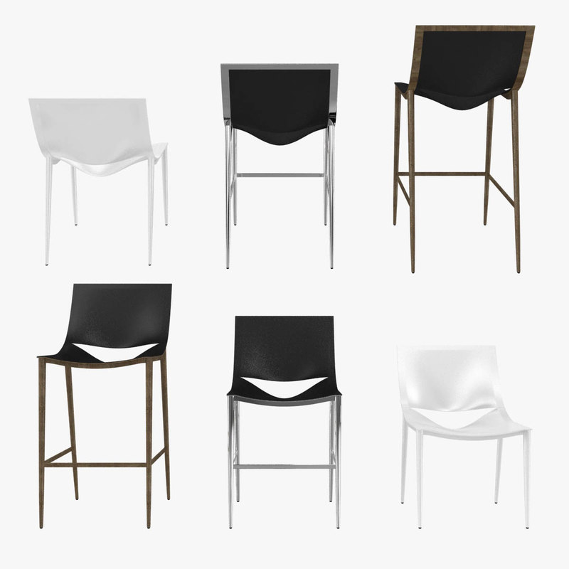 chairs sloane barstool counter 3D