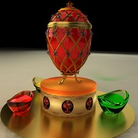 3D chinese gold ingot egg