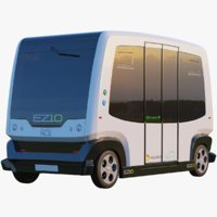 EZ10 Driver Less Shuttle Bus White