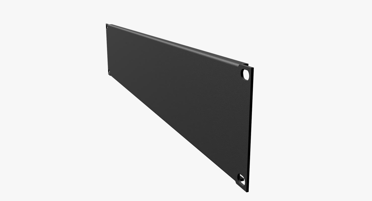 19-Inch Rack Mount Blank Panel 2U