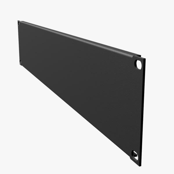 19-inch rack mount blank 3D