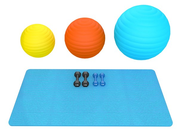 fitness equipment weights 3D model