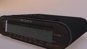 3D model sony alarm clock