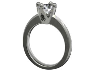 jewelry engagement ring ca1 3D model