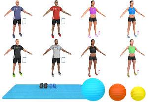 fitness pack 3D model