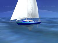3D cutter rigged sailing sailboats