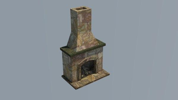 fireplace lareira 3D
