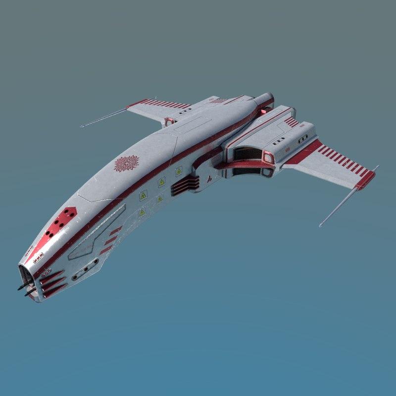 spaceship dagger type 1 3D