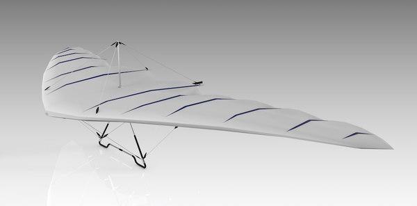 3D glider hang glide