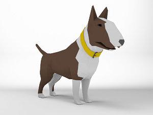 bull terrier dog 3D model