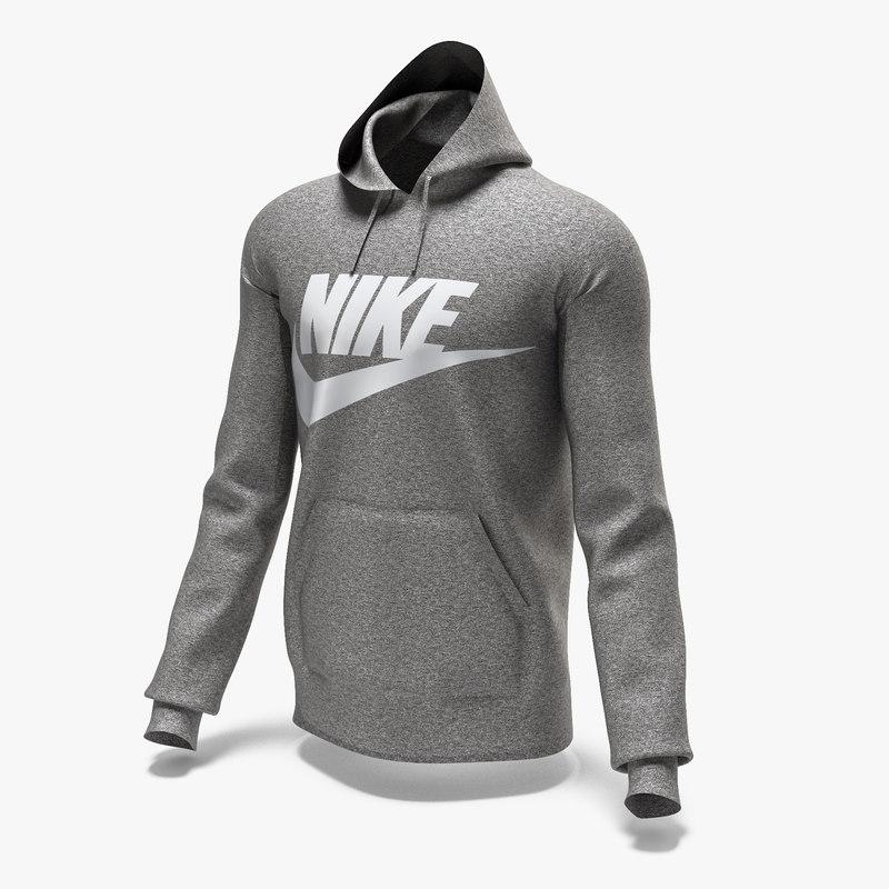 3D male hoodie