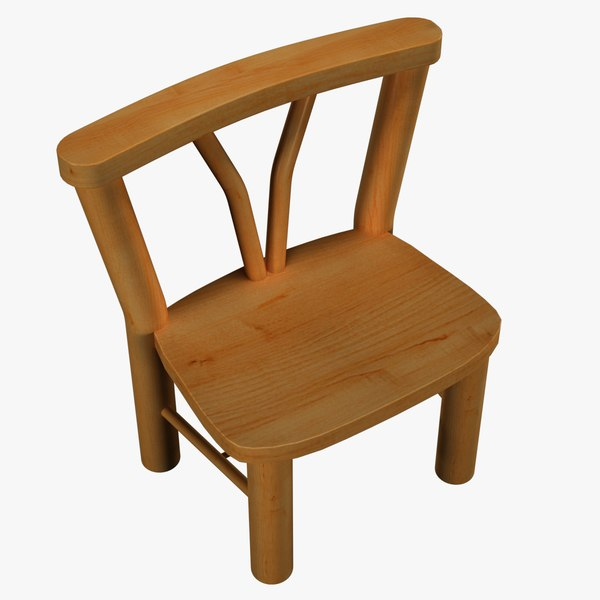 country style chair wood 3D model
