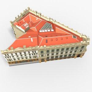 old bank arcade 3D model