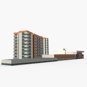 portside wharf 3D model