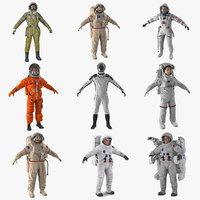 3D astronauts 5 model