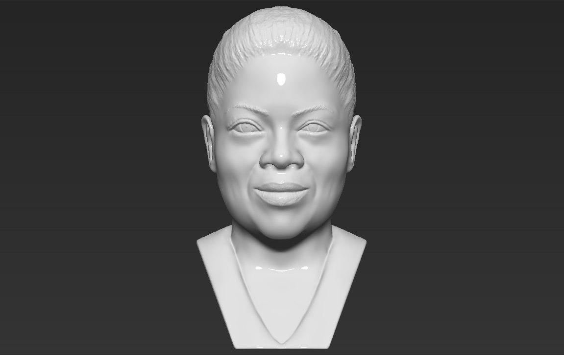 oprah winfrey bust ready 3D model