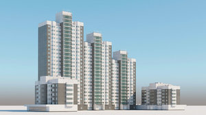 3D model moscow architectural