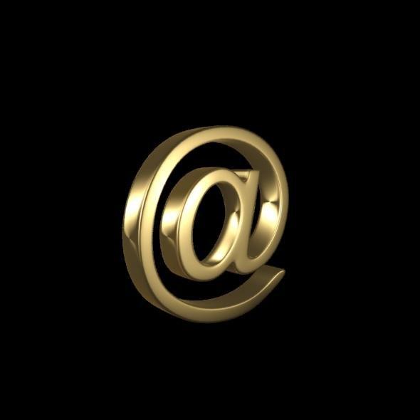 3D email symbol modeled model