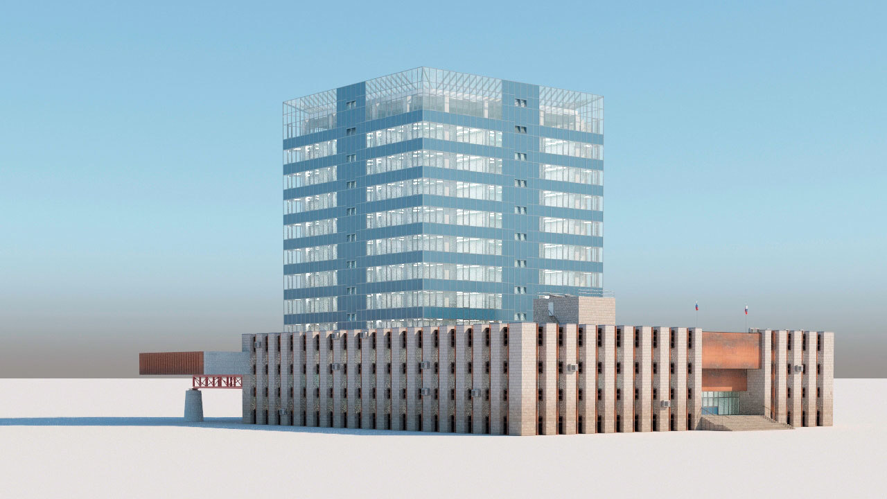 moscow office architectural 3D model